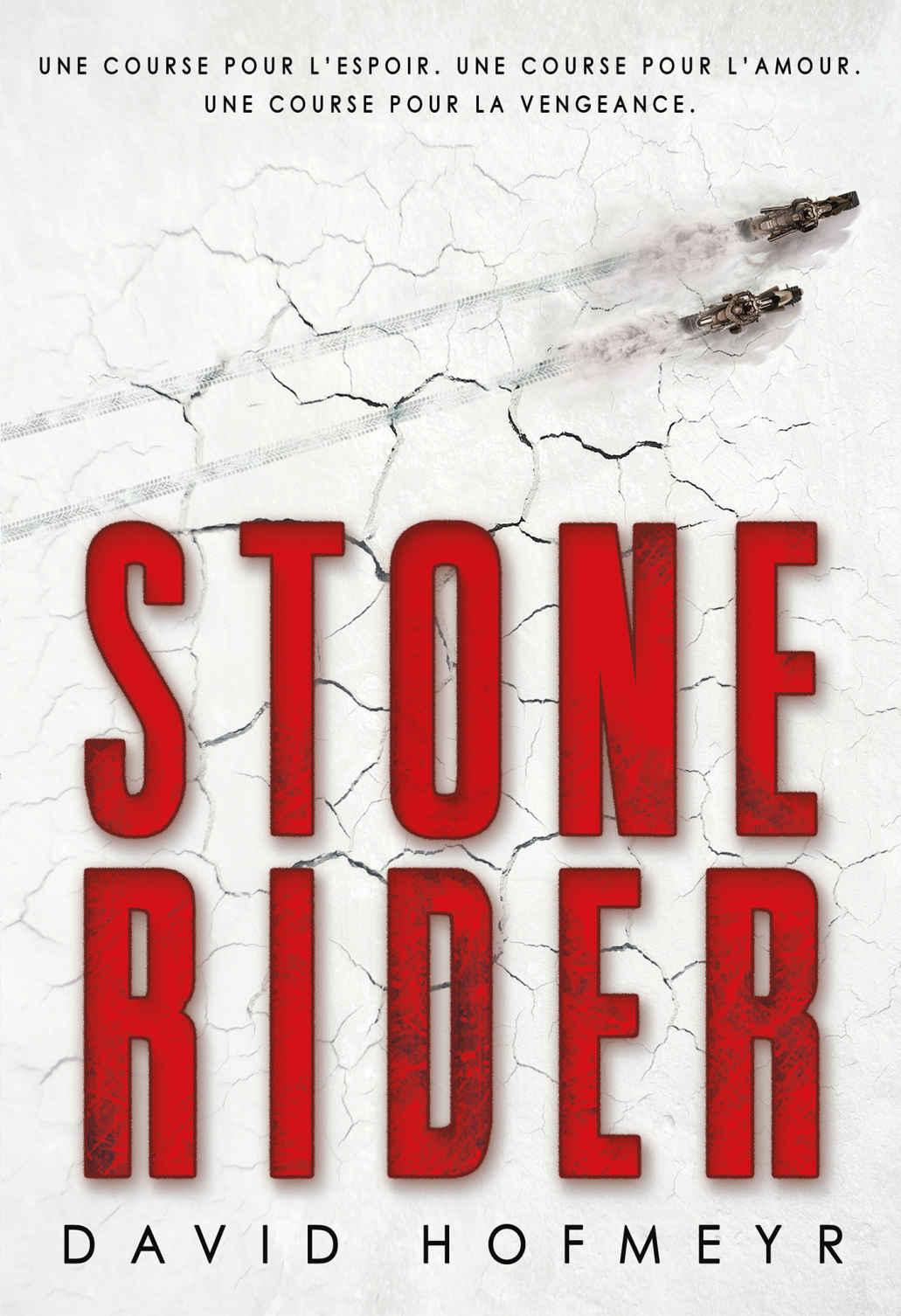 La Pépite du roman ado européen 13 ans et plus « Stone Rider » de David Hofmeyr (traduit de l'anglais par Alice Marchand), (Gallimard Jeunesse)